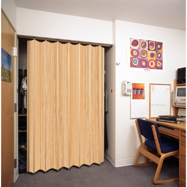Shop Spectrum Woodshire Natural Oak Folding Door 48x96 Free Shipping Today Overstock 10812968