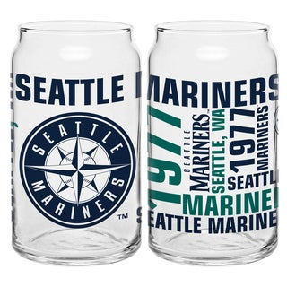 Seattle Mariners 16-Ounce Glass Spirit Glass Set