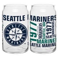 Seattle Mariners 16-Ounce Glass Spirit Glass Set