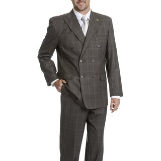 Stacy Adams Men's Plaid 2-Piece Suit
