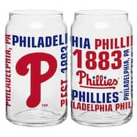 Philadelphia Phillies 16-Ounce Glass Spirit Glass Set