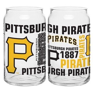 Pittsburgh Pirates 16-Ounce Glass Spirit Glass Set