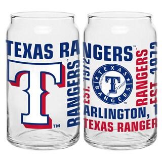 Texas Rangers 16-Ounce Glass Spirit Glass Set