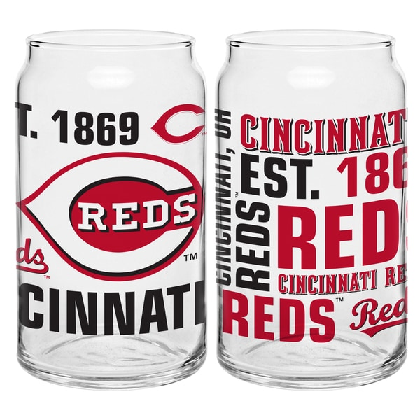 Cincinnati Reds 16-Ounce Glass Spirit Glass Set
