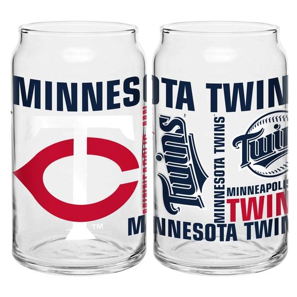 Minnesota Twins 16-Ounce Glass Spirit Glass Set