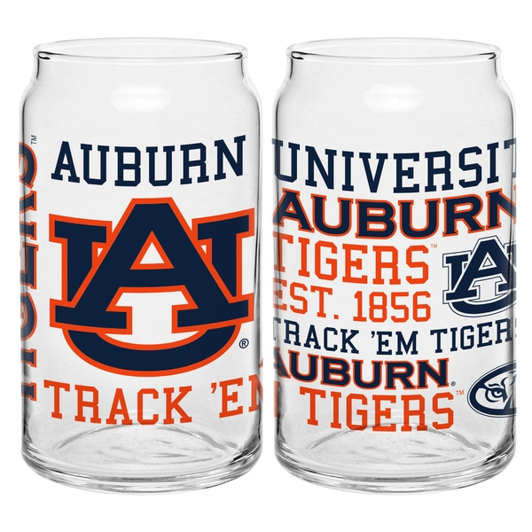 Auburn Tigers 16-ounce Spirit Glass Set - Auburn Tigers