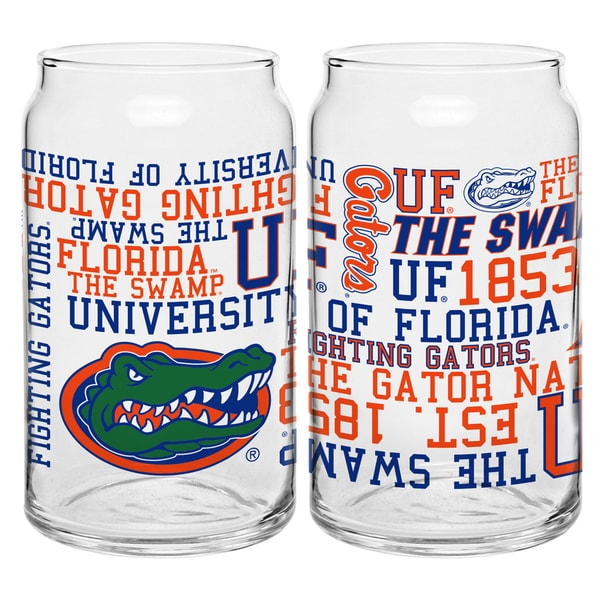 Florida Gators 16-ounce Spirit Glass Set