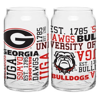 Georgia Bulldogs 16-ounce Spirit Glass Set