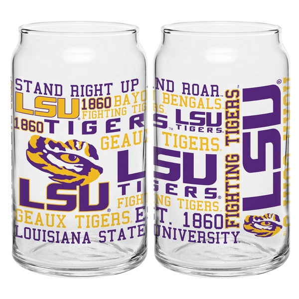 LSU Tigers 16-ounce Spirit Glass Set