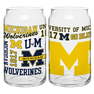 Michigan Wolverines 16-ounce Spirit Glass Set