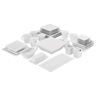 Link to 10 Strawberry Street Simply Square Porcelain Dining Set (40 Pieces) Similar Items in Dinnerware