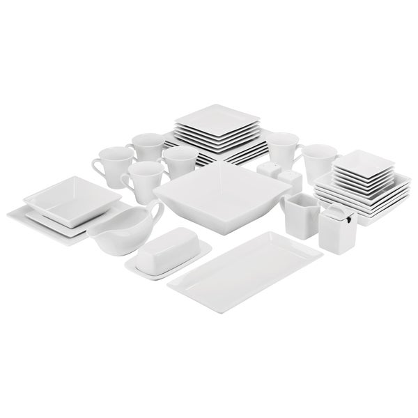 10 Strawberry Street Simply Square Porcelain Dining Set (40 Pieces). Opens flyout.
