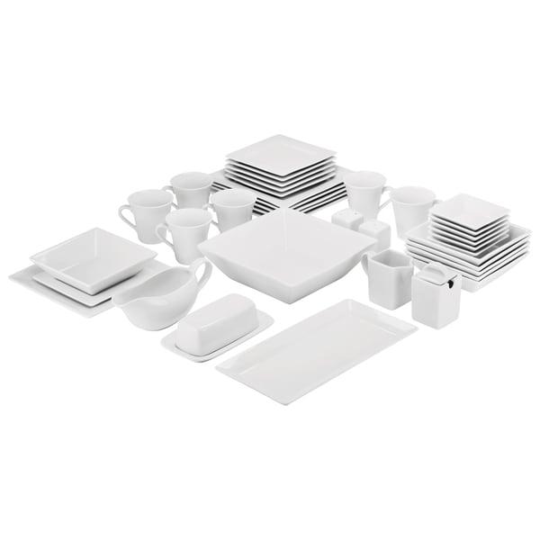 45682f72deb Shop 10 Strawberry Street Simply Square Porcelain Dining Set (40 ...