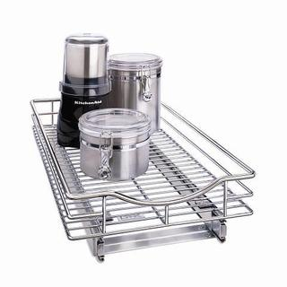 Roll Out Cabinet Drawer - Chrome 11'' x 21''
