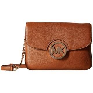 Michael Kors Fulton Flap Luggage Brown Crossbody Bag