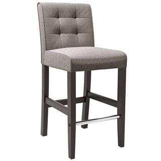 CorLiving Antonio Bar Height Barstool in Grey Tweed Fabric