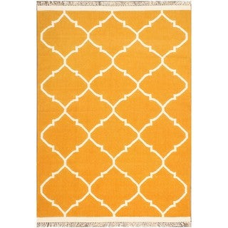 ABC Accents Moroccan Yellow and Gold Wool Rug (5' x 8')