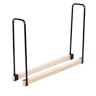 HIO Length Adjustable Outdoor Heavy Duty Steel Firewood Rack Firewood log Rack