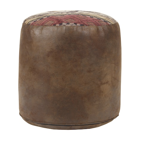 Deer Valley Tapestry Pouf Ottoman