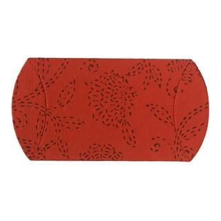 Handmade Set of 10 Cinnabar Pillow Boxes (India)