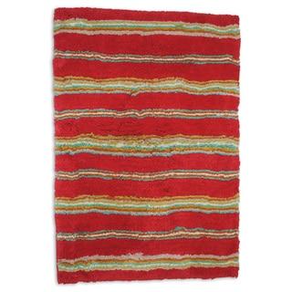 Waverly Honey Moon Stripe Tufted Bath Rug (20 x 30)