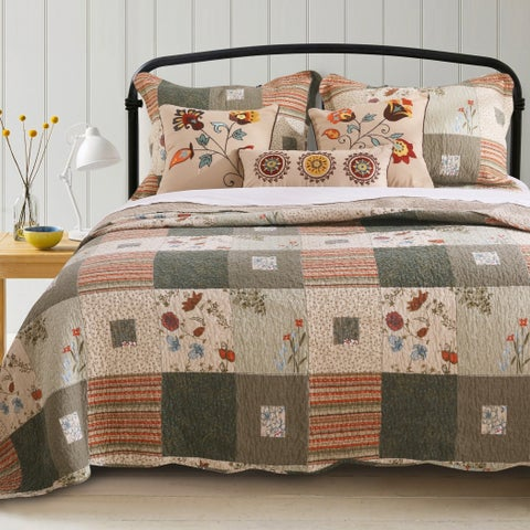 Greenland Home Fashions Sedona Cotton 5-piece Quilt Set
