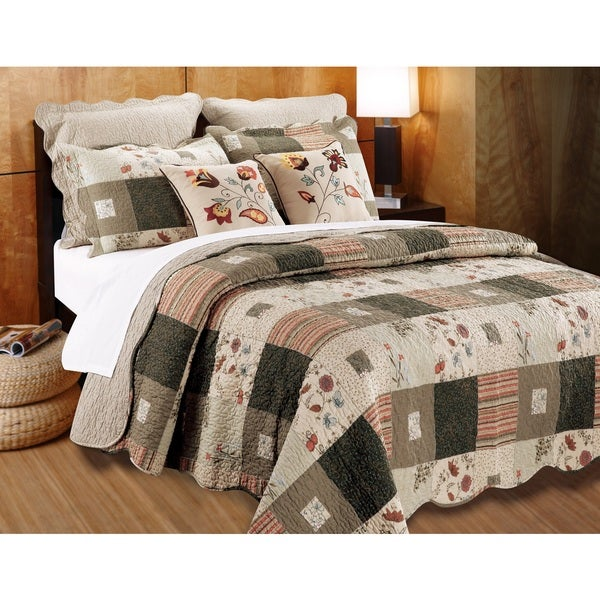 Greenland Home Fashions Sedona Cotton 5-piece Quilt Set - On Sale ... : overstock quilts king - Adamdwight.com
