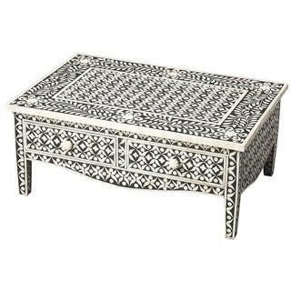 Butler Cassandra Black Bone Inlay Cocktail Table