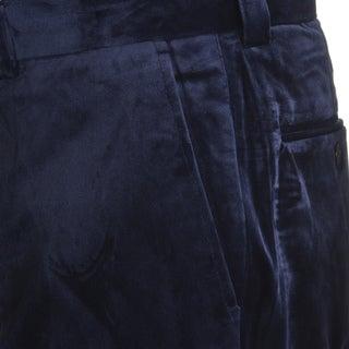 Blu Martini Men's Flat Front Velvet Pants