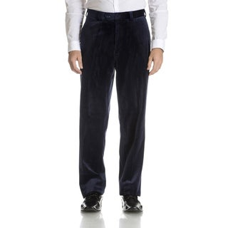 Blu Martini Men's Flat Front Velvet Pants