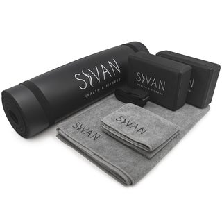 Sivan 6-piece Yoga Mat Kit Black
