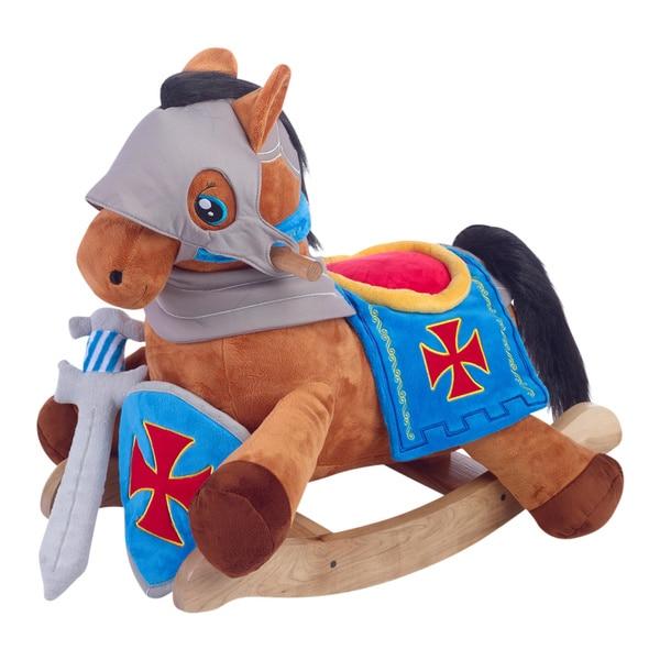 Knights Horseback Plush Rocker
