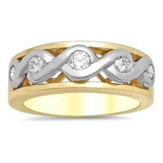 Artistry Collections 14k Two-tone Gold 1/2ct TDW Diamond Swirl Ring (F-G, SI1-SI2)