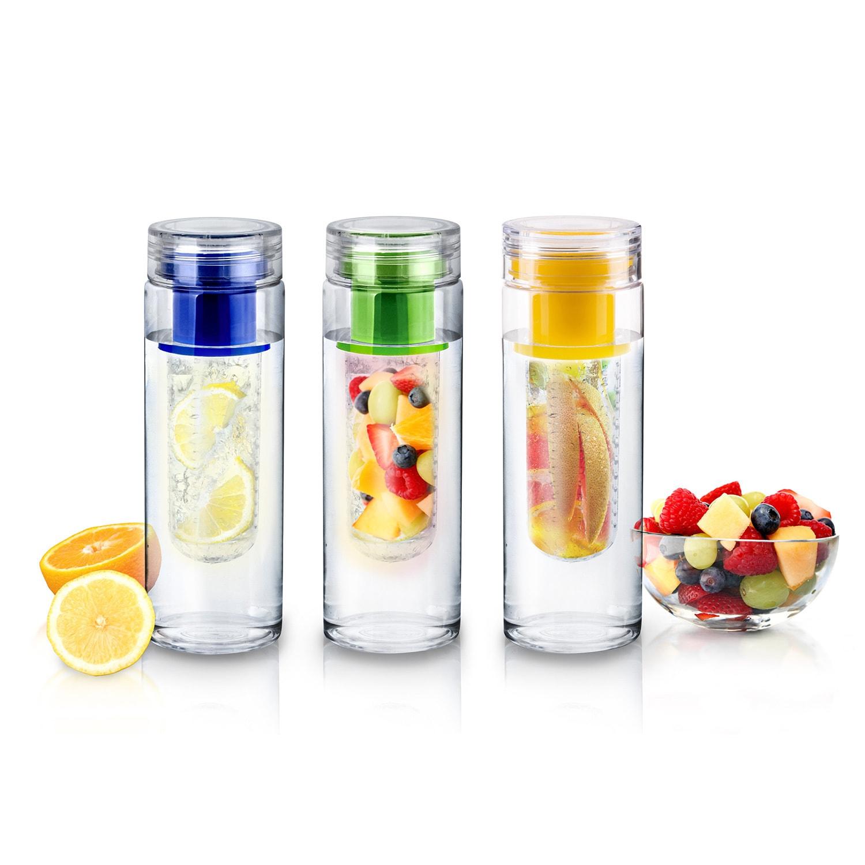 27 Oz environ 765.42 g fruits infusant Infuseur 12 bouteilles d/'eau bisphenol A Free Sport Detox Wholesale