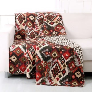Greenland Home Fashions Folk Festival Rustic Quilted Cotton Throw