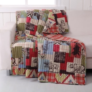 Greenland Home Fashions Rustic Lodge Quilted Throw