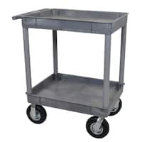 Luxor TC11P8-G Gray 2-tub Cart with 8-inch Pneumatic Casters