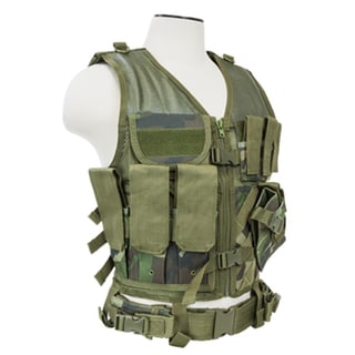 NcStar Tactical Vest Woodland Camo, XL-XXL+