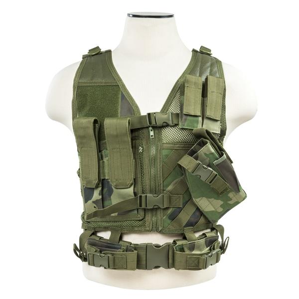 NcStar Tactical Vest Woodland, XS-S