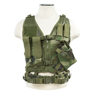 NcStar Tactical Vest Woodland, XS-S