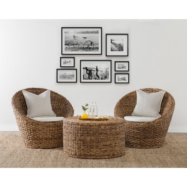 Round Wicker Coffee Table With Stools: Shop Ira Rattan Round Coffee Table By Kosas Home