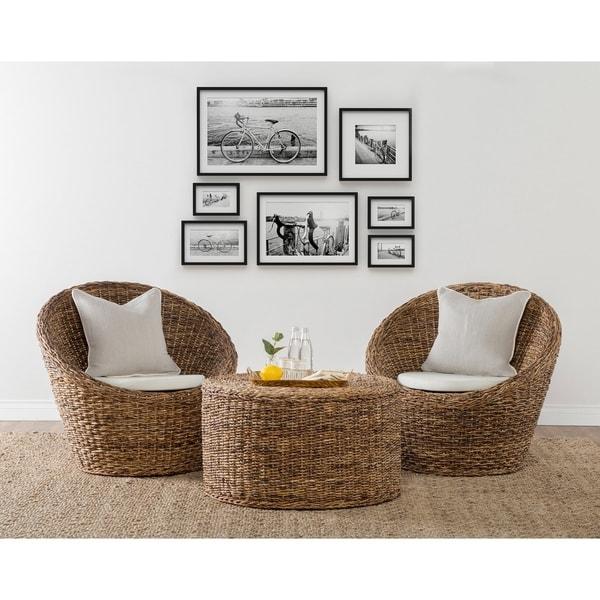 Shop Ira Rattan Round Coffee Table By Kosas Home