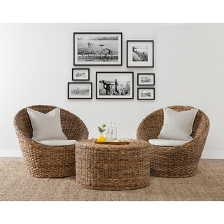 Ira Rattan Round Coffee Table by Kosas Home - 18h x 32w x 32d
