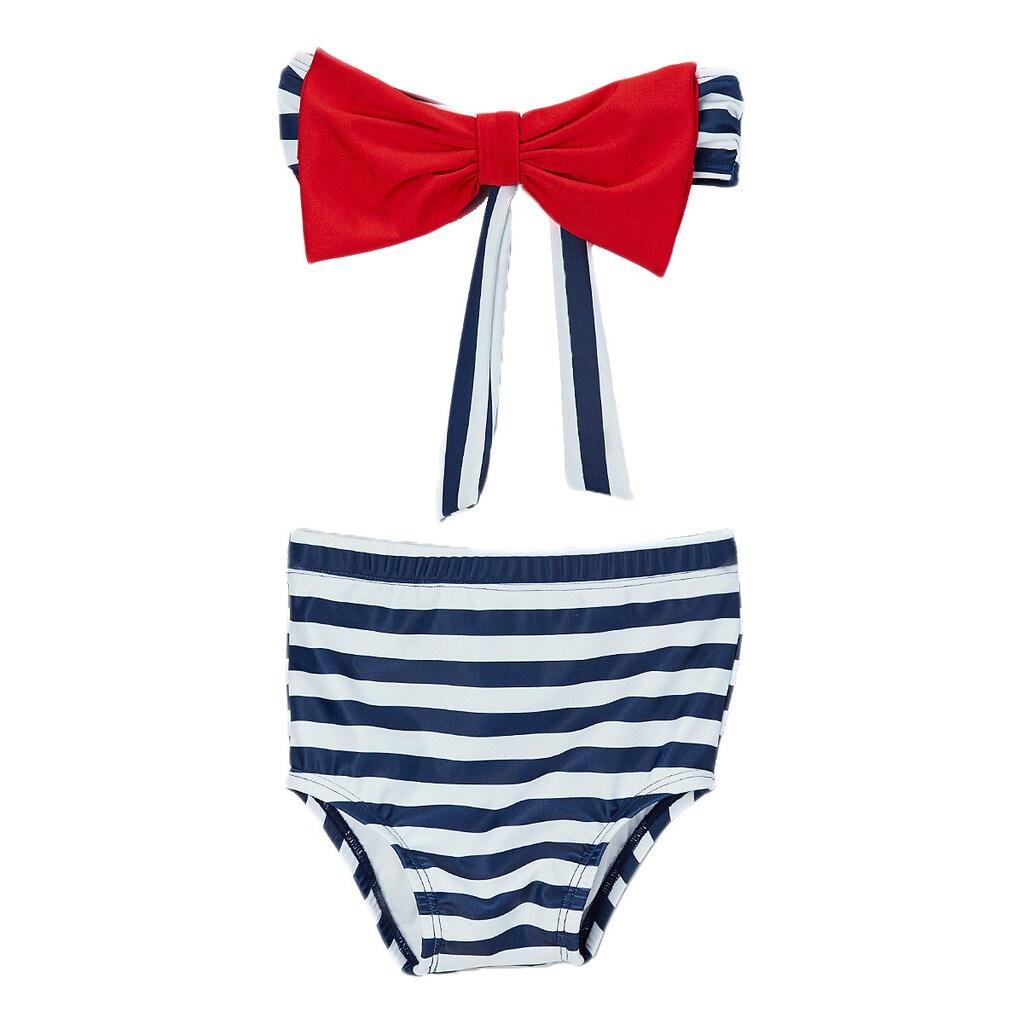 Dippin' Daisy's Girl's High Waist Bow Bandeau Bikini (12)...