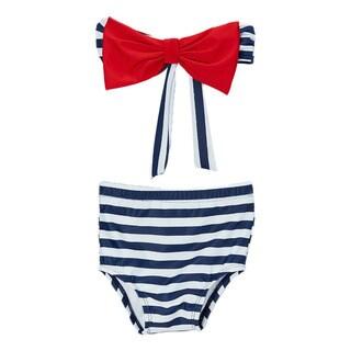 Dippin' Daisy's Girl's High Waist Bow Bandeau Bikini