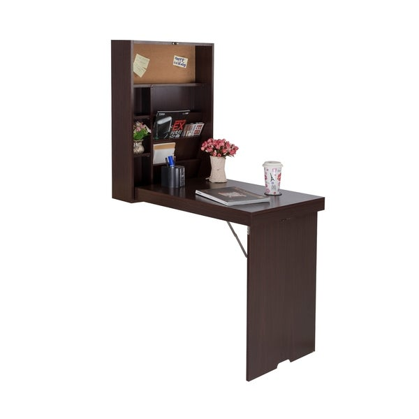 drop down wall mount desk free shipping today 17858444. Black Bedroom Furniture Sets. Home Design Ideas