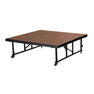 "NPS Transfix 48"" x 48"" Adjustable Height Portable Stage, Hardboard (2 options available)"