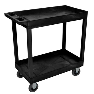 Luxor EC11SP5-B Black 2-tub Cart with SP5 Casters