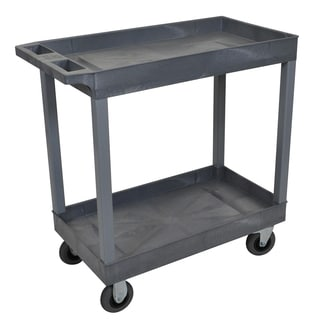 Luxor Gray 18 x 32-inch 2 Tub Cart with SP5 Casters