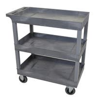 Luxor Gray 18 x 32-inch 3 Tub Cart with SP5 Casters